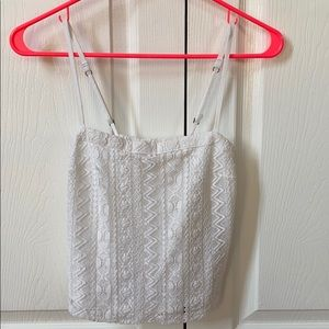 Hollister xs lacy tank with spaghetti straps